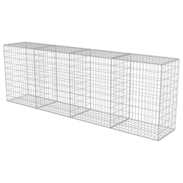 "vidaXL Gabion Wall with Covers Galvanized Steel 118""x19.7""x39.4""[3/5]"