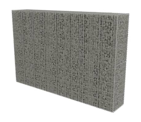 "vidaXL Gabion Wall with Covers Galvanized Steel 118""x19.7""x78.7"""