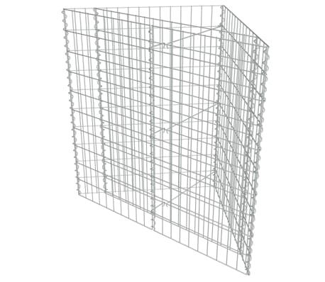 vidaXL Arriate de gaviones de acero galvanizado 75x75x50 cm