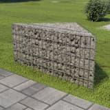 vidaXL Podwyższona donica gabionowa, galwanizowana stal, 75x75x50 cm