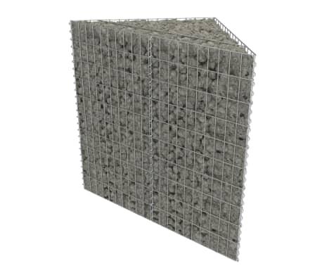 vidaXL Arriate de gaviones de acero galvanizado 75x75x100 cm