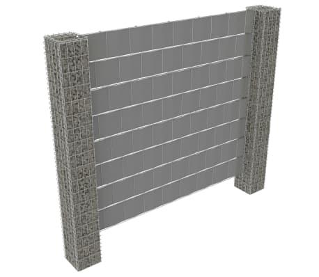 "vidaXL Gabion Fence with 2 Posts Galvanized Steel and PVC 70.9""x70.9"""