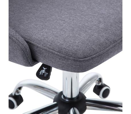 vidaXL Biuro kėdės su ratukais, 2 vnt., tamsiai pilkos, audinys[6/8]