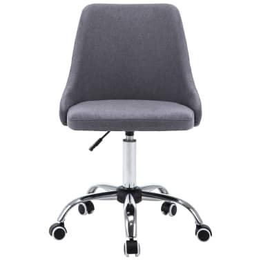 vidaXL Biuro kėdės su ratukais, 2 vnt., tamsiai pilkos, audinys[3/8]