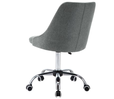 vidaXL Krzesła biurowe na kółkach, 2 szt., tkanina, jasnoszare[4/8]