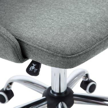 vidaXL Krzesła biurowe na kółkach, 2 szt., tkanina, jasnoszare[6/8]