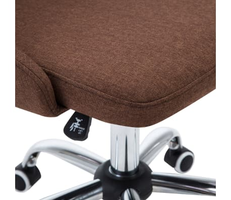 vidaXL Chaises de bureau roulantes 2 pcs Tissu Marron[6/8]