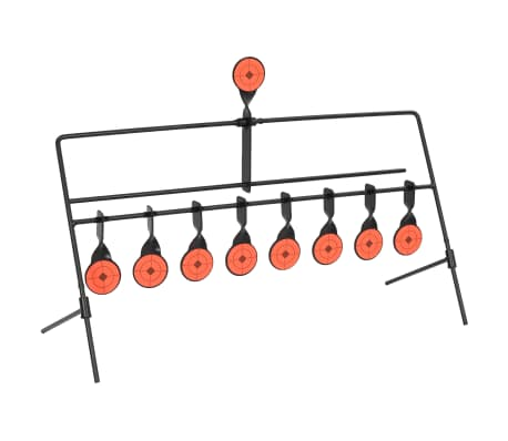vidaXL Snurrmål med automatisk återställare 8 + 1 måltavlor