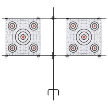 vidaXL Måltavla med stativ och papper 78x76 cm stål[2/5]
