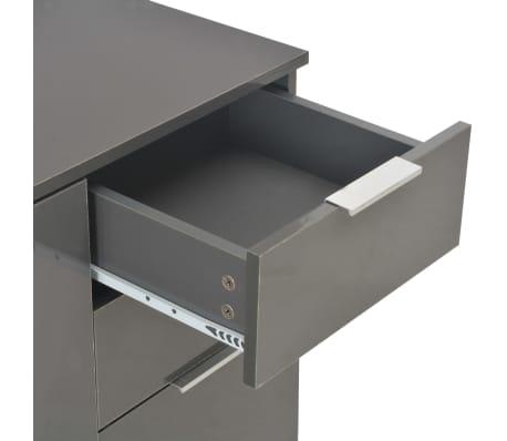 vidaXL Komoda na wysoki połysk, szara, 107 x 35 x 76 cm[7/9]