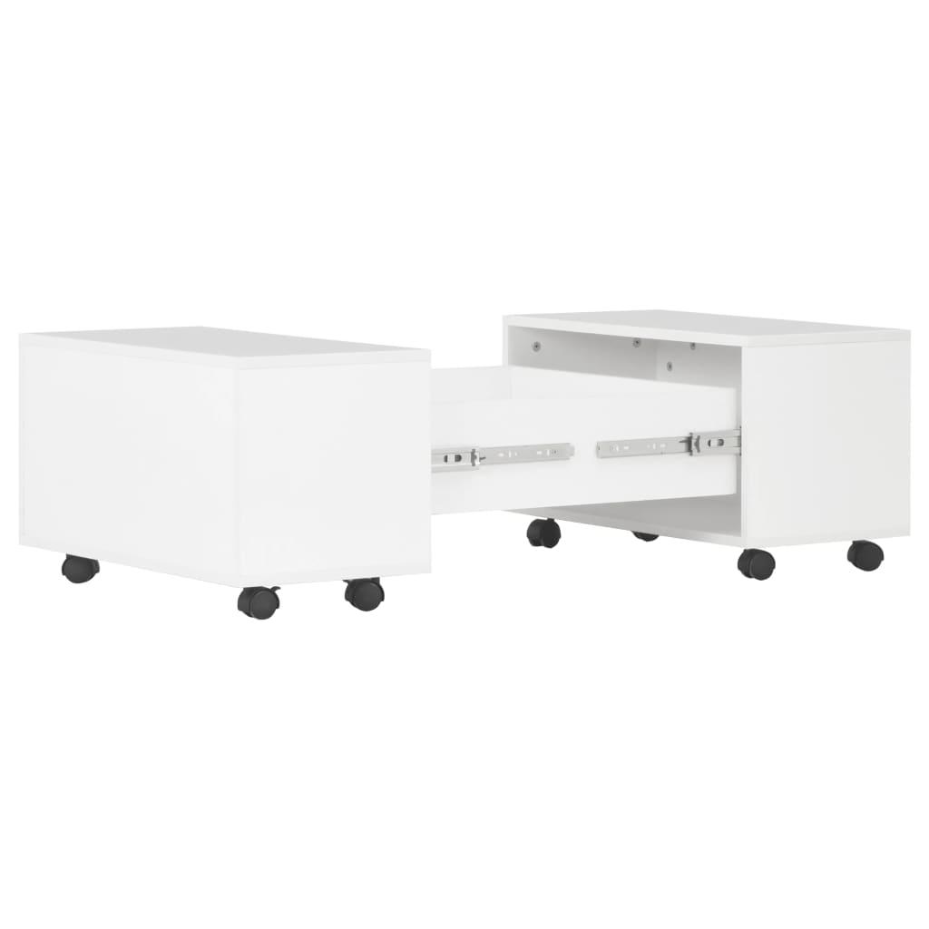 vidaXL Salontafel 60x60x35 cm spaanplaat hoogglans wit