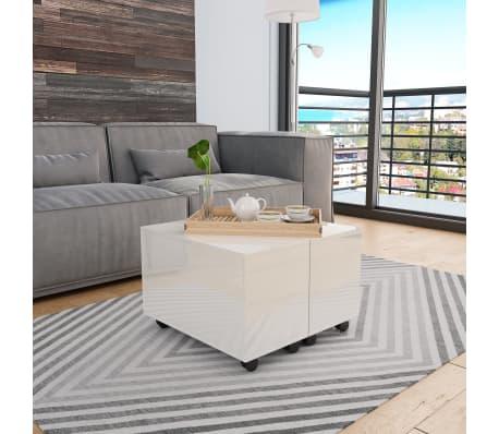 Amazing Vidaxl Coffee Table High Gloss White 60X60X35 Cm Chipboard Inzonedesignstudio Interior Chair Design Inzonedesignstudiocom