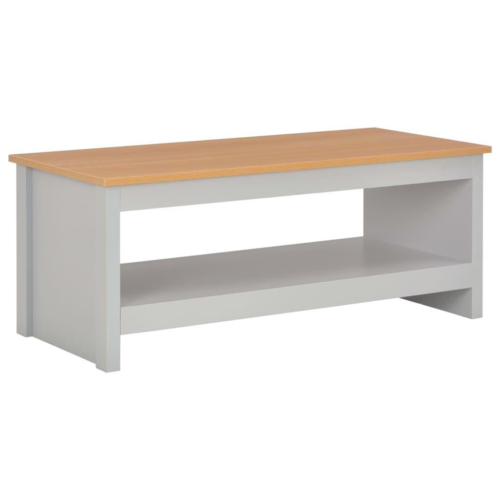 vidaXL Konferenční stolek šedý 105 x 47 x 42 cm