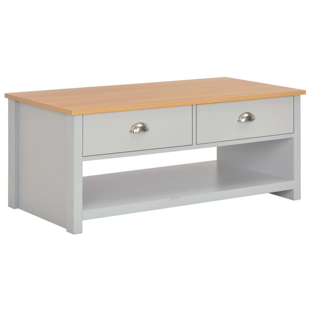 vidaXL Table basse Gris 100 x 50 x 42 cm