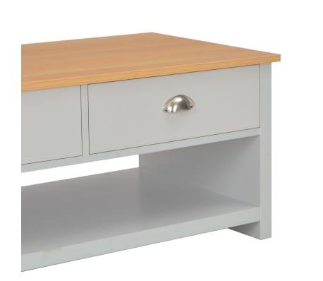 vidaXL Kavos staliukas, pilkos spalvos, 100x50x42cm[6/9]