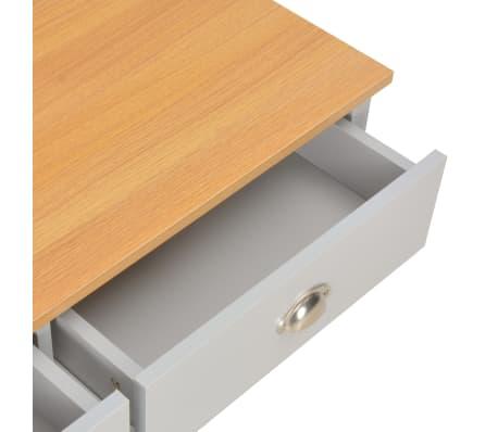 vidaXL Kavos staliukas, pilkos spalvos, 100x50x42cm[7/9]