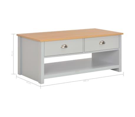 vidaXL Kavos staliukas, pilkos spalvos, 100x50x42cm[9/9]