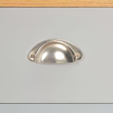 vidaXL Kavos staliukas, pilkos spalvos, 100x50x42cm[8/9]