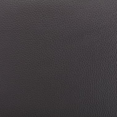 vidaXL Masažni fotelj s stolčkom za noge siv iz umetnega usnja[12/13]