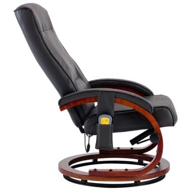 vidaXL Masažni fotelj s stolčkom za noge siv iz umetnega usnja[7/13]