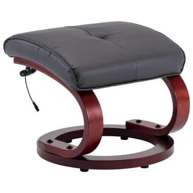 vidaXL Masažni fotelj s stolčkom za noge siv iz umetnega usnja[9/13]
