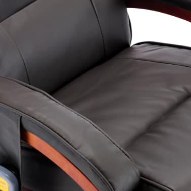 vidaXL Masažni fotelj s stolčkom za noge siv iz umetnega usnja[10/13]
