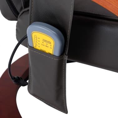 vidaXL Masažni fotelj s stolčkom za noge siv iz umetnega usnja[11/13]