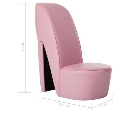 Poltrone A Forma Di Scarpa.Vidaxl Poltrona A Forma Di Scarpa Con Tacco In Similpelle Rosa
