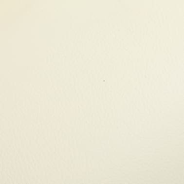 vidaXL Masažni fotelj s stolčkom za noge kremno bel iz umetnega usnja[9/10]