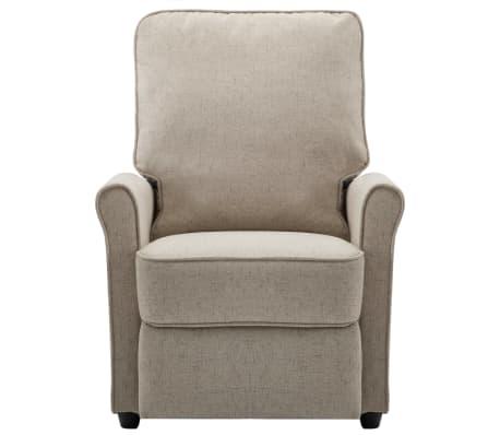 vidaXL Električni masažni fotelj iz krem blaga[4/9]