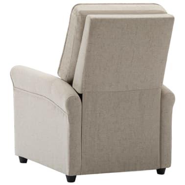 vidaXL Električni masažni fotelj iz krem blaga[6/9]