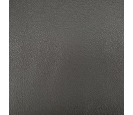 vidaXL Poltrona Massaggi Reclinabile con Poggiapiedi Grigia Similpelle[10/11]