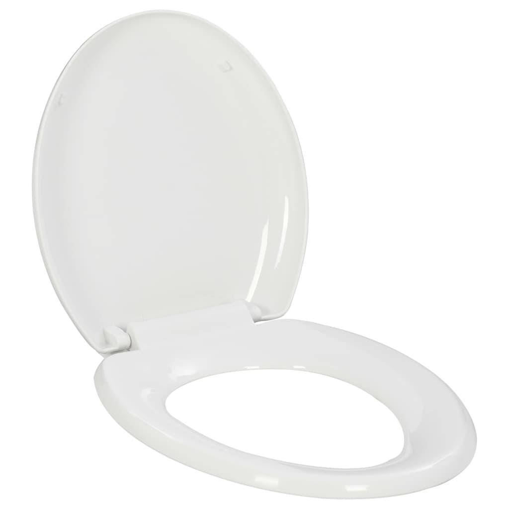 vidaXL Capac WC, închidere silențioasă, eliberare rapidă, alb imagine vidaxl.ro