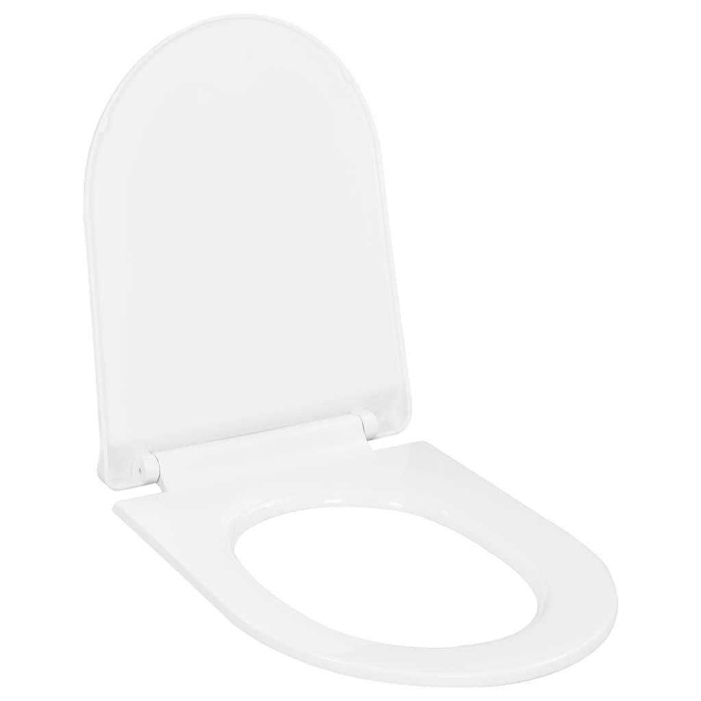 Toaletní sedátko pomalé sklápění rychloupínací bílé