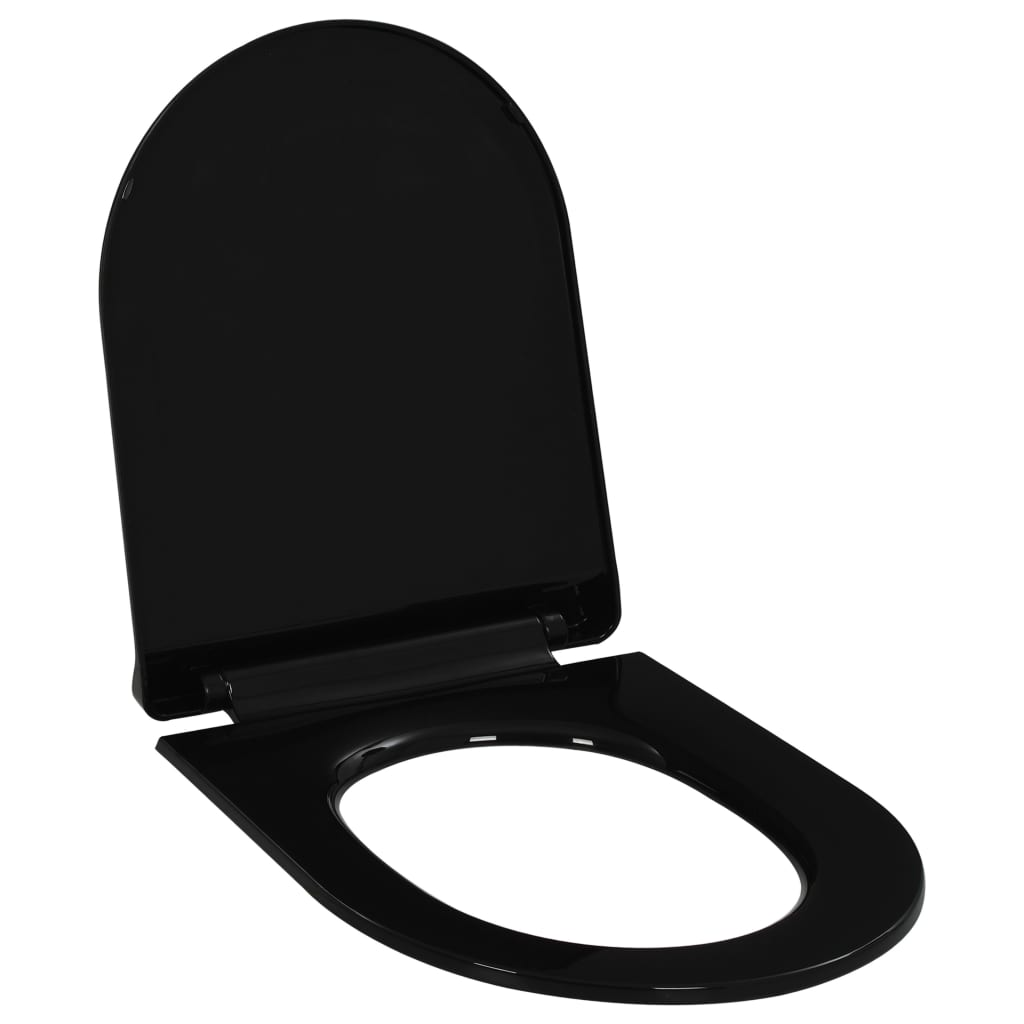 Toaletní sedátko pomalé sklápění rychloupínací černé