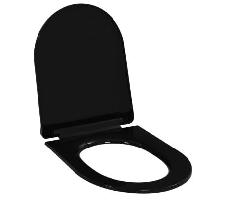 vidaXL Soft-close Toilet Seat with Quick-release Design Black