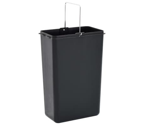 vidaXL Koš za ločevanje odpadkov srebrn nerjaveče jeklo 3x8 L[5/7]