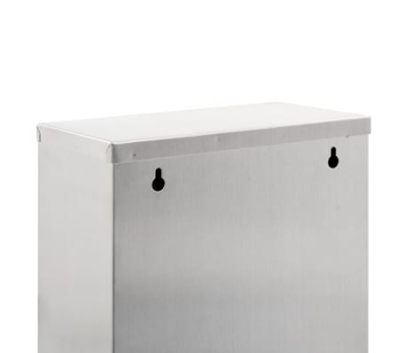 vidaXL Koš za ločevanje odpadkov srebrn nerjaveče jeklo 3x8 L[6/7]
