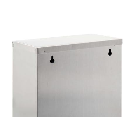 vidaXL Coș de gunoi pentru reciclare, argintiu, oțel inoxidabil, 3x15L[6/7]
