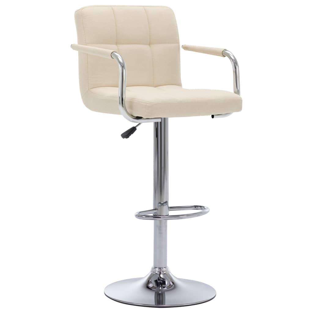 Barová židle krémová textil
