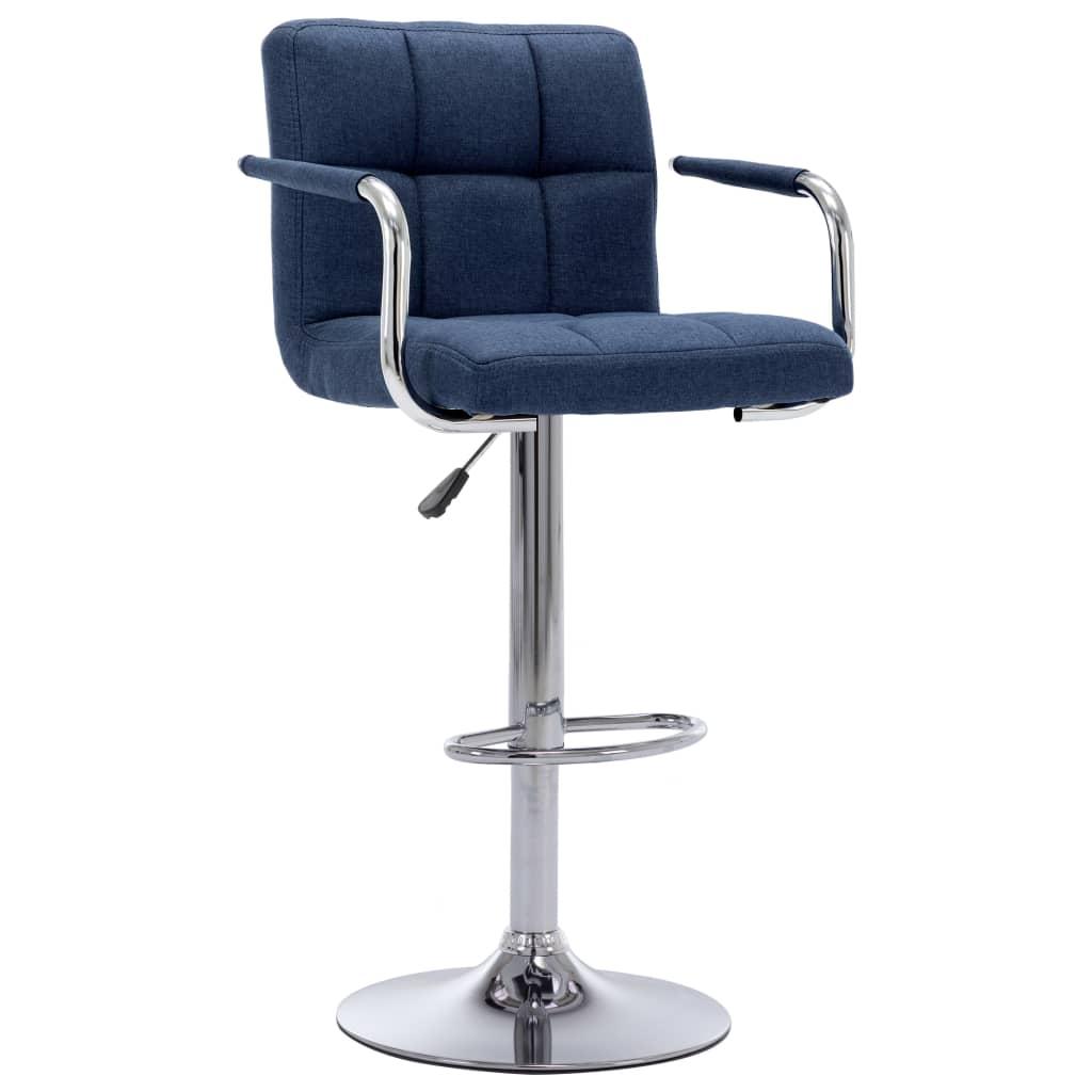 vidaXL Scaun de bar, albastru, material textil poza 2021 vidaXL