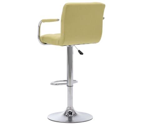 vidaXL Chaise de bar Vert Tissu