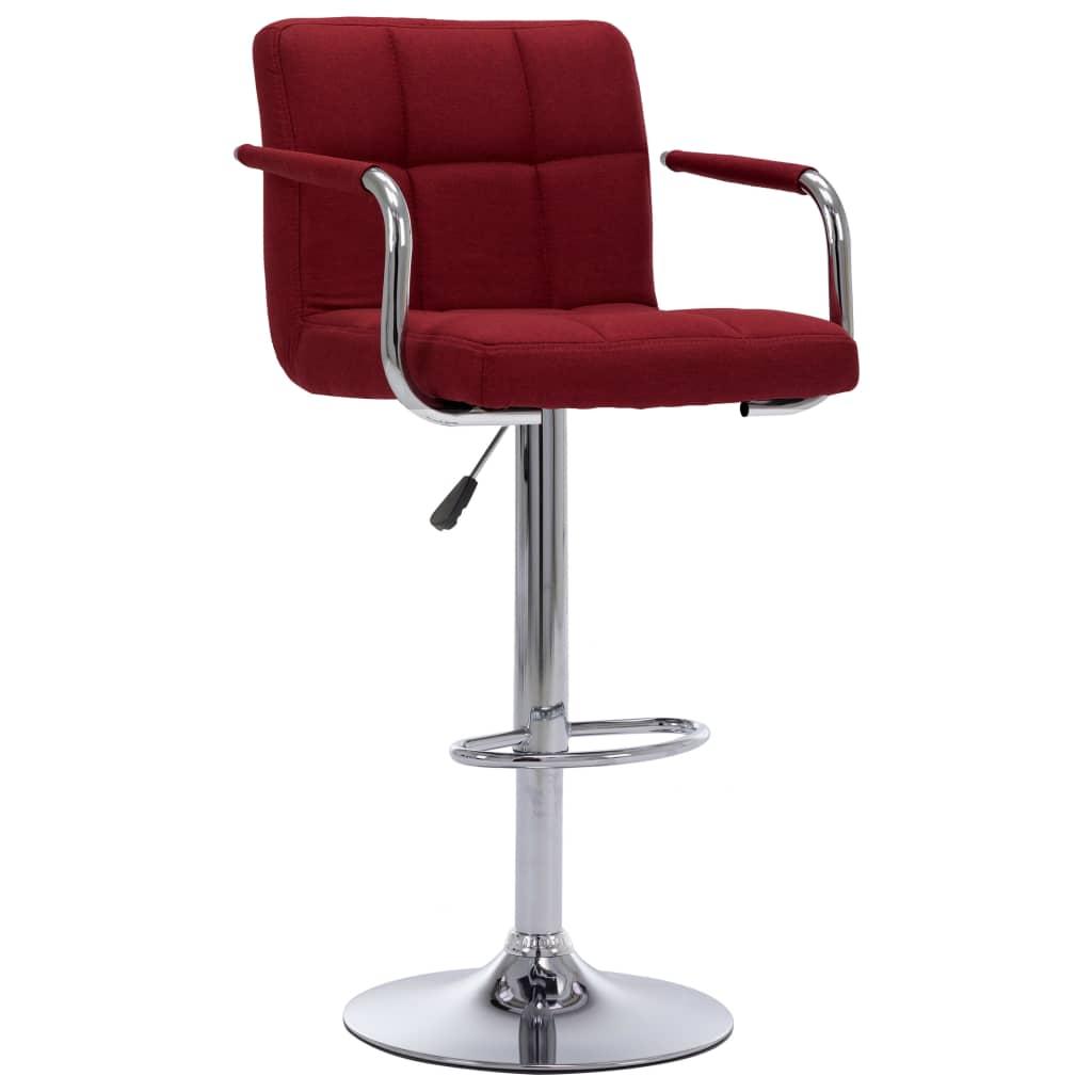 Barová židle vínová textil