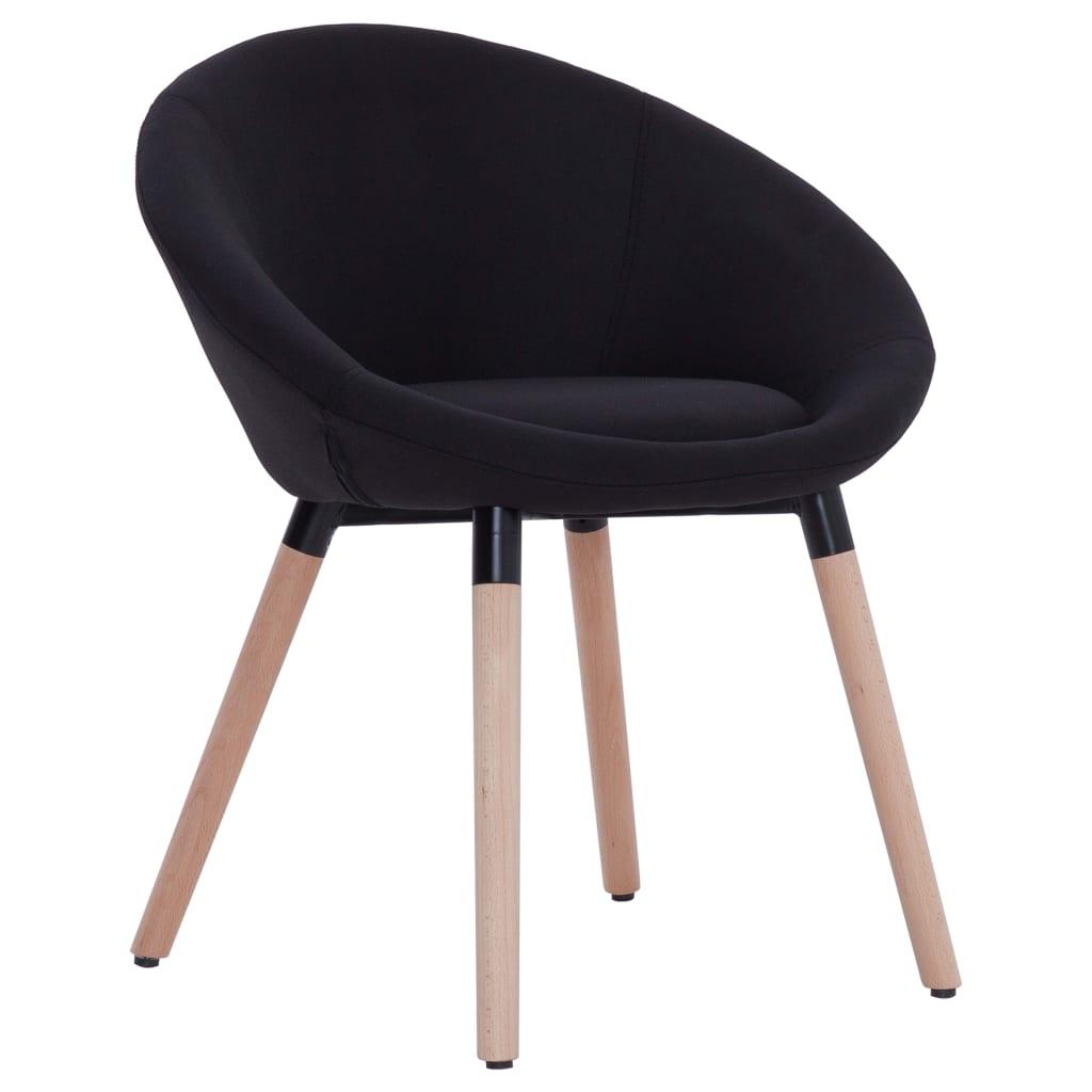 vidaXL Καρέκλα Τραπεζαρίας Μαύρη Υφασμάτινη