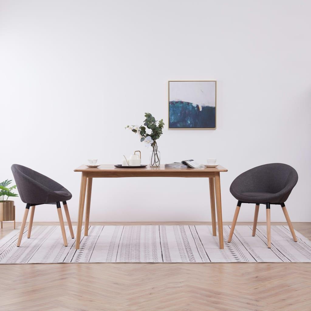 vidaXL Blagovaonske stolice od tkanine 2 kom tamnosive