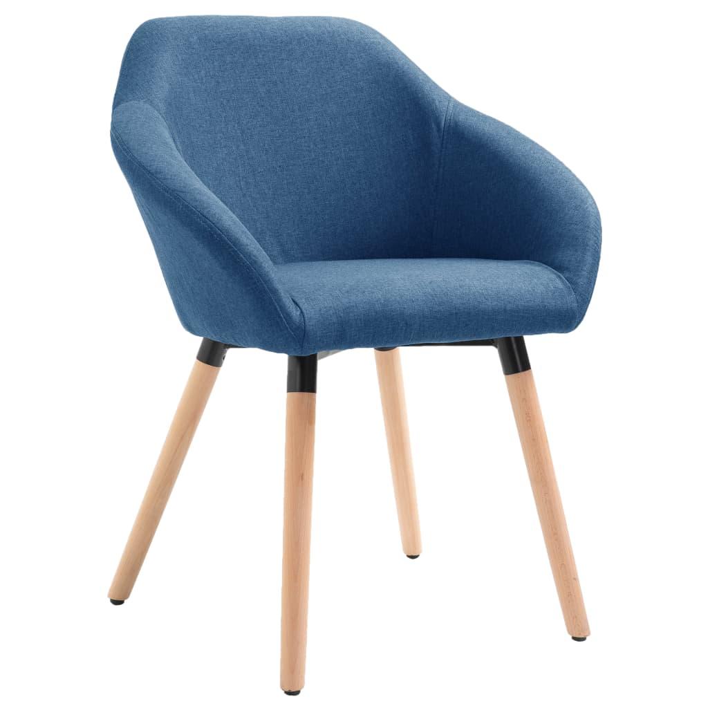 Jídelní židle modrá textil