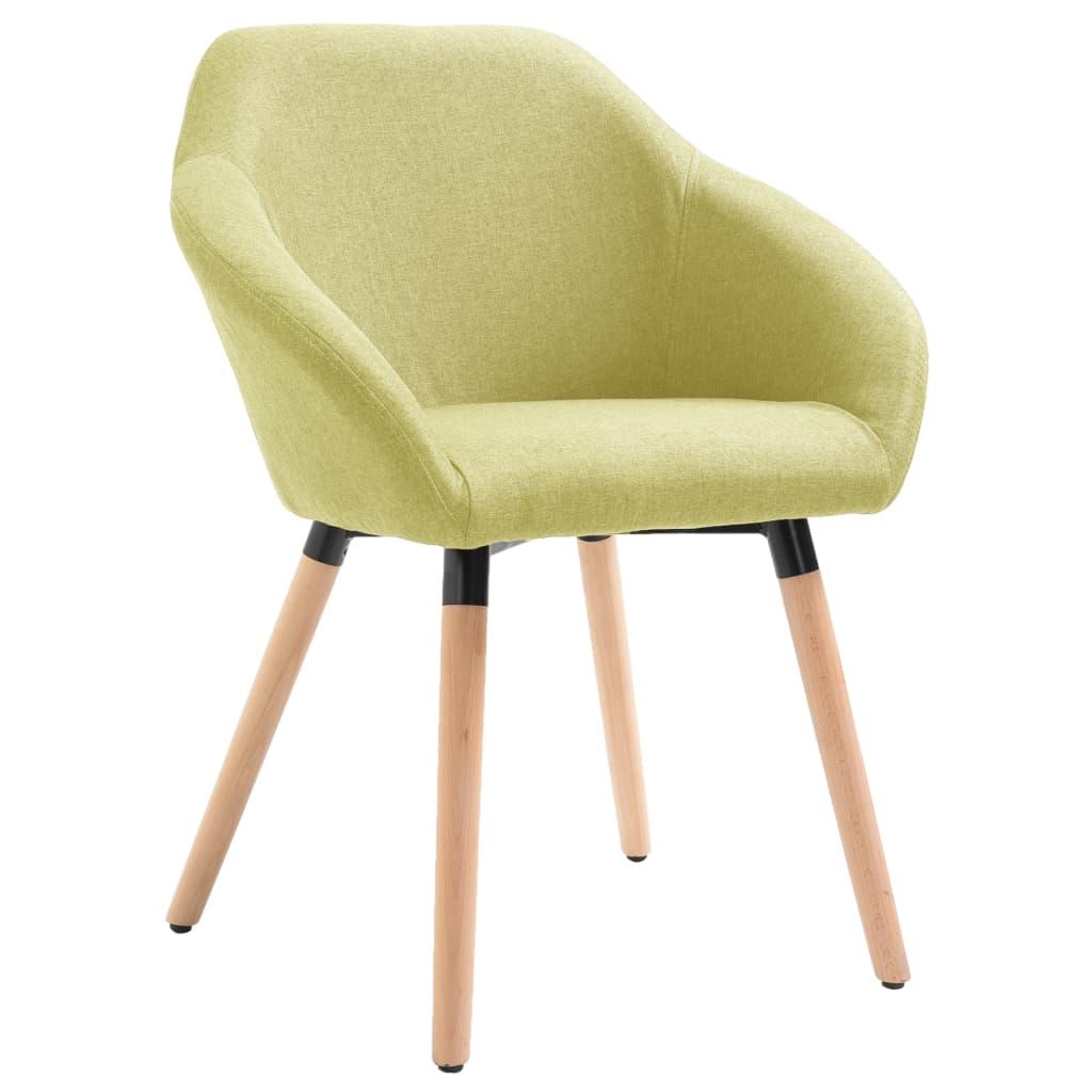 vidaXL Καρέκλα Τραπεζαρίας Πράσινη Υφασμάτινη