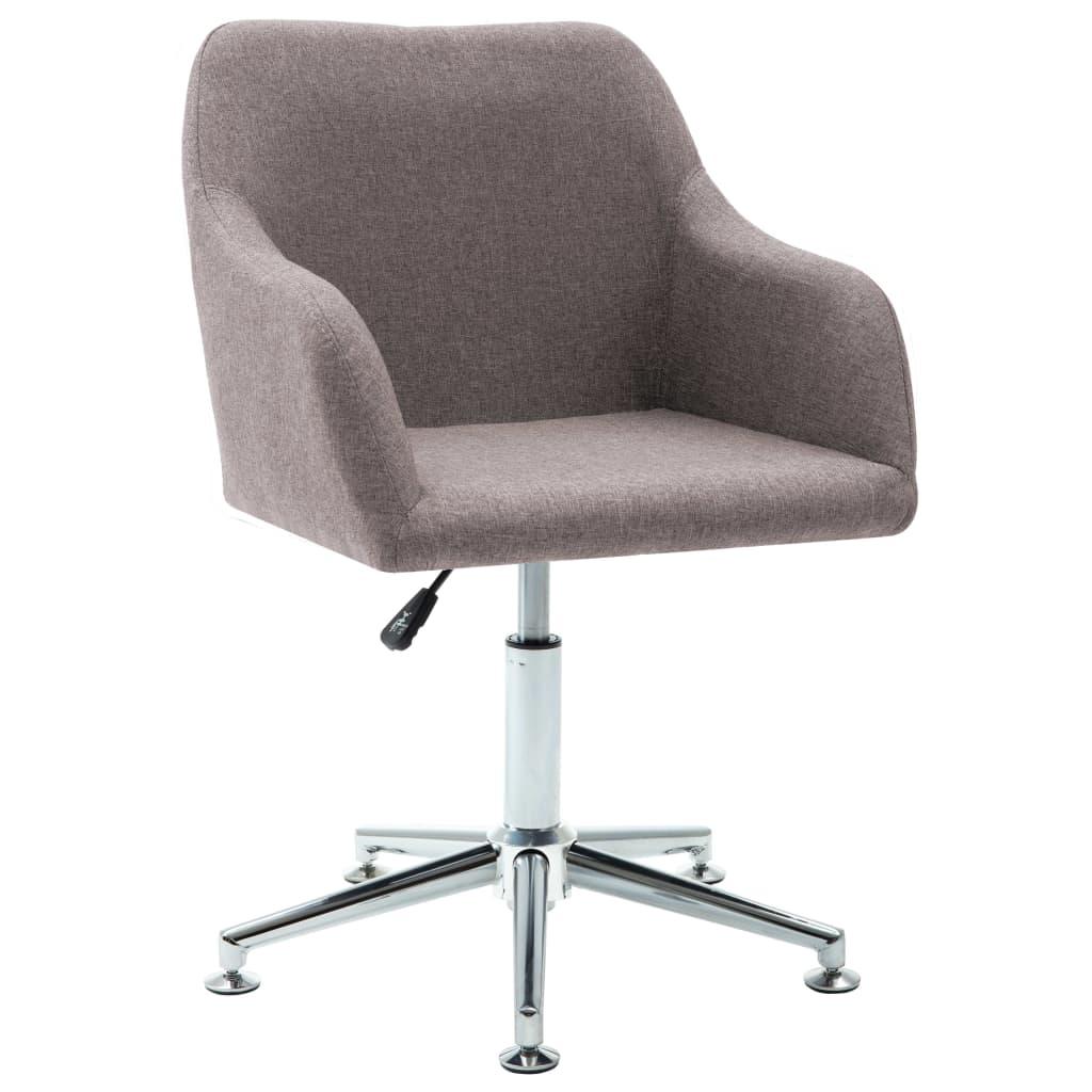 vidaXL Καρέκλα Τραπεζαρίας Περιστρεφόμενη Χρώμα Taupe Υφασμάτινη