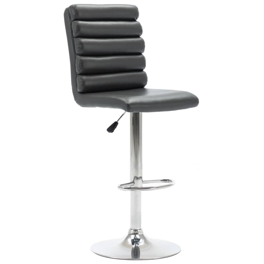 Barová židle šedá umělá kůže