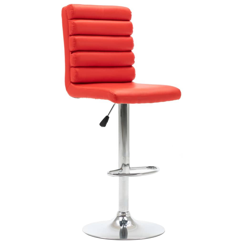 vidaXL Barová židle červená umělá kůže